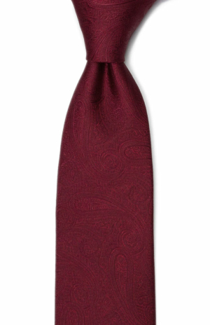 ORNATE Dark red tie