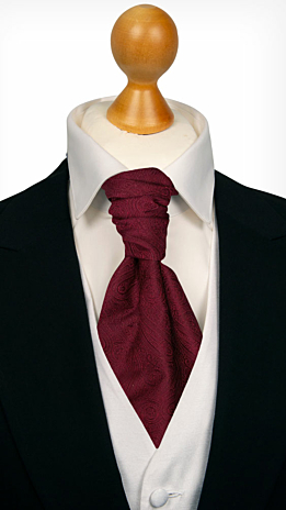 ORNATE Dark red cravat