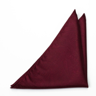 ORNATE Dark red pocket square