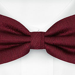 ORNATE Dark red bow tie