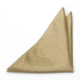 ORNATE Gold pocket square