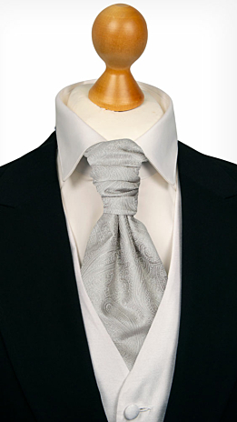ORNATE Silver cravat