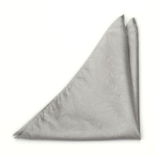 ORNATE Silver pocket square