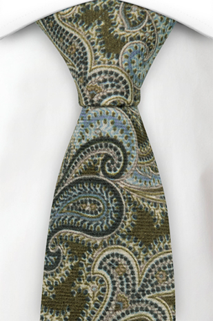 PULITO Moss green tie