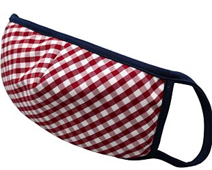 RED AND WHITE CHECKERS face mask