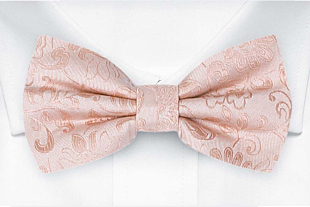 SAVETHEDATE Blush pink bow tie