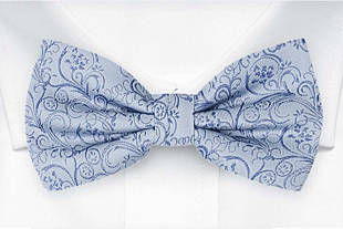 SCROLLER Light blue bow tie