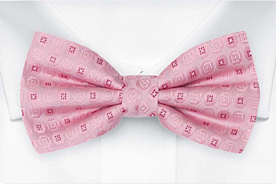 SETTLEDOWN Light pink bow tie