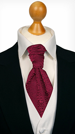 SNAZZY Dark red cravat