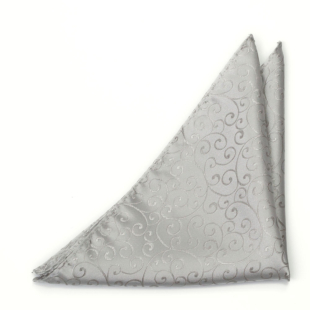 SNAZZY Silver pocket square