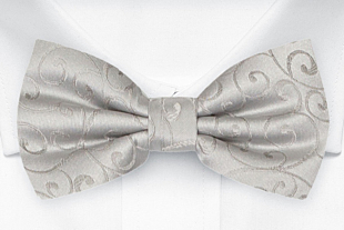 SNAZZY Silver bow tie