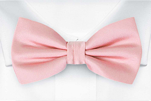 SOLID Pale pink bow tie