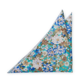 SPIFFYTOP Turquoise pocket square