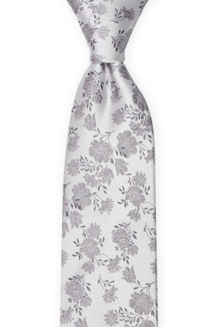 TOSSBLOSSOM Silver grey tie