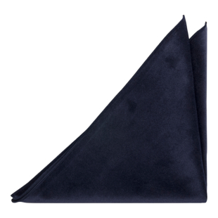 VELVET Navy pocket square