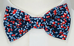 BACCARINO Navy blue pre-tied bow tie