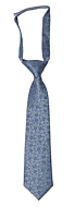 AUGURI Dusty blue boy's tie small pre-tied