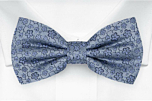 AUGURI Dusty blue boy's bow tie