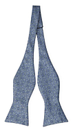 AUGURI Dusty blue self-tie bow tie