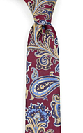 BOFFOLA Dark red boy's tie medium
