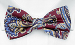 BOFFOLA Dark red boy's bow tie