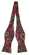 BOFFOLA Red self-tie bow tie
