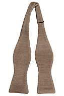 CHILLA Beige self-tie bow tie