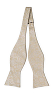 EVERAFTER Champagne gold self-tie bow tie