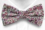 FLOWERFOLLY Pink pre-tied bow tie