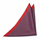 FORZAPESCE Red pocket square