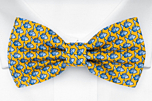 FORZAPESCE Yellow pre-tied bow tie