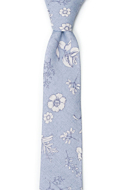 ICEMAIDEN Blue skinny tie