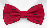 ANTBARON Red pre-tied bow tie