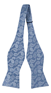 BRUD Blue self-tie bow tie