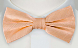JAGGED Apricot pre-tied bow tie
