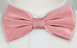 JAGGED Pink pre-tied bow tie