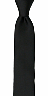 SOLID Black boy's tie medium