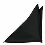 SOLID Black pocket square