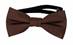 SOLID Brown baby bow tie