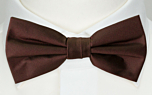 SOLID Brown boy's bow tie