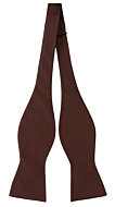 SOLID Brown self-tie bow tie