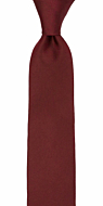 SOLID Burgundy boy's tie medium