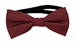 SOLID Burgundy baby bow tie