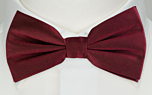 SOLID Burgundy boy's bow tie