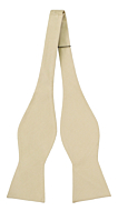 SOLID Champagne self-tie bow tie
