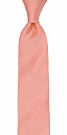 SOLID Coral boy's tie medium