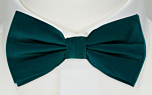 SOLID Dark pine boy's bow tie