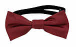 SOLID Dark red baby bow tie