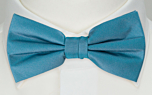 SOLID Dark turquoise pre-tied bow tie