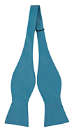 SOLID Dark turquoise self-tie bow tie